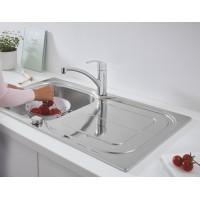 Мойка для кухни Grohe K300 860x500 + смеситель Eurosmart однорычажный (31565SD0)