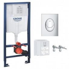 Инсталляция Grohe Rapid SL 3 в 1 39503000 c панелью смыва Skate Air 38505000 хром