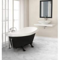Декоративные ножки для ванны Marmorin Fama белые/черные 566016
