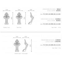 Декоративные ножки для ванны Marmorin Fama хром 566016CH