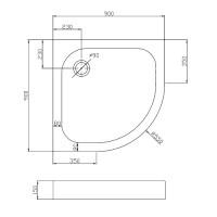 Душевой поддон Eger Balaton 90x90 (599-507/2-15)