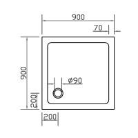 Душевой поддон Eger SMC 90x90 (599-9090S)