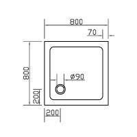 Душевой поддон Eger SMC 80x80 (599-8080S)