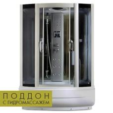 Гидробокс Miracle TS8002 150x85 cерое стекло + поддон с гидромассажем