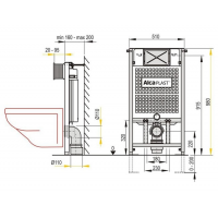 Инсталляционная система Alcaplast (A101/1000) Sádromodul