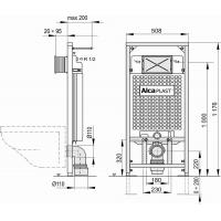 Инсталляционная система Alcaplast (A101/1200) Sádromodul
