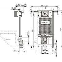 Инсталляционная система Alcaplast (A102/1000) Jádromodul
