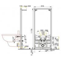 Инсталляционная система Alcaplast для биде (A105/1200)
