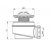Сифон Alcaplast A47CR-60 для душевого поддону хромирован
