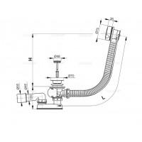 Сифон Alcaplast A51B для ванны автомат комплект белый