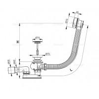 Сифон Alcaplast A51BM для ванны автомат комплект белый