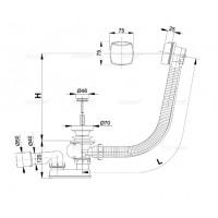 Сифон Alcaplast A51CR для ванны автомат комплект хромирован