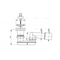 Выпускной комплект Alcaplast A461-50 для душевого поддону с гидрозатвором