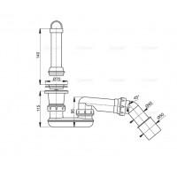 Выпускной комплект Alcaplast A462-50 для душевого поддону с гидрозатвором и коленом
