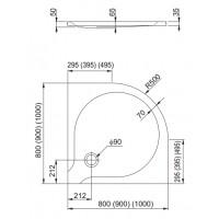 Душевой поддон Aquaform DELTA 100 (200-06903)