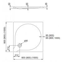 Душевой поддон Aquaform DELTA 100 (201-06909)
