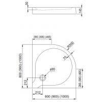 Душевой поддон Aquaform DELTA 100 с интегрированной панелью (200-06906)