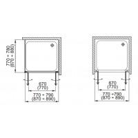 Боковая стенка  Aquaform GLASS 5  80 прозрачное стекло (103-06379)