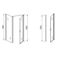 Боковая стенка  Aquaform GLASS 5  90  прозрачное стекло (103-06383)