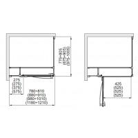 Боковая стенка  Aquaform HD COLLECTiON 90 прозрачное стекло (103-09378)