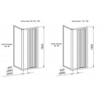 Боковая стенка  Aquaform MODERNO 90  прозрачное стекло (103-09346)