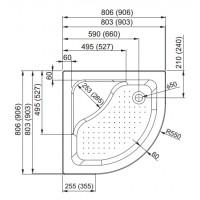 душевой поддон Aquaform PLUS 550  80 глубокий с сидением (200-18607)