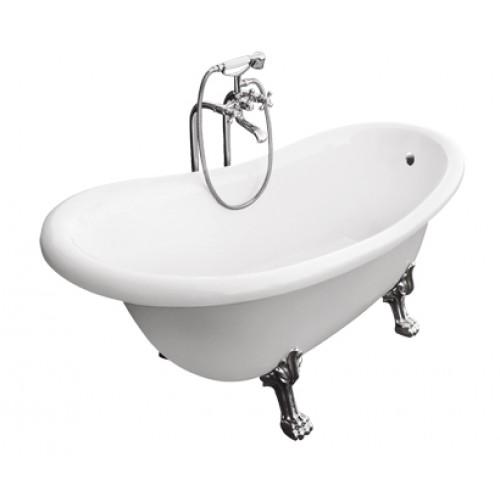 Ванна Besco Otylia 160x77 с белыми ножками