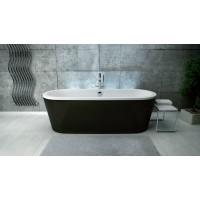 Ванна акриловая Besco Victoria 185x83 с сифоном, черная