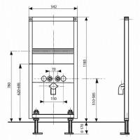 Инсталляционная система Cersanit для писсуара (K97-064)