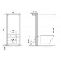 Инсталляционная система Cersanit под биде (K97-065)
