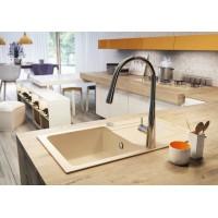 Гранитная кухонная мойка 1 чаша с крылом для сушения Deante Funk бежевый (ZQQ 7113)