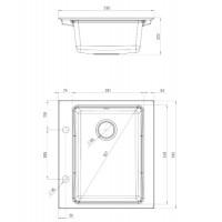 Гранитная кухонная мойка 1 чаша без крыла для сушения Deante Modern алебастр (ZQM A103)