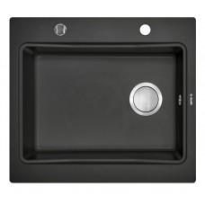 Гранитная кухонная мойка 1 чаша без крыла для сушения Deante Modern графитовый металiк (ZQM G103)