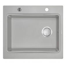 Гранитная кухонная мойка 1 чаша без крыла для сушения Deante Modern серый металiк (ZQM S103)