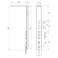Душевая панель с термостатическим смесителем Deante Multibox (NOO 051T)