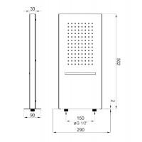 Воронка для верхнего душа 2- функциональная Deante Multibox хром (NAC 092K)