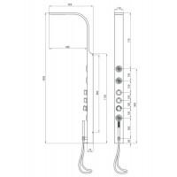 Душевая панель с термостатическим смесителем Deante Toscano (NOT 051K)