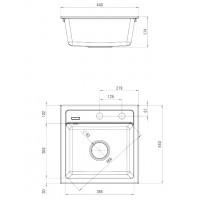 Гранитная кухонная мойка 1 чаша без крыла для сушки Deante Zorba графитовый (ZQZ 2103)