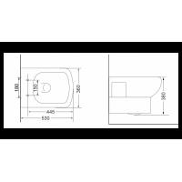 Унитаз подвесной Devit Comfort с крышкой из дюропласта soft close(3020123)