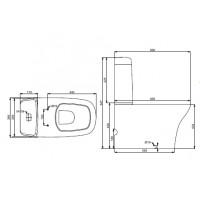 Компакт половой Devit iven с крышкой из дюропласта soft close(3010141)