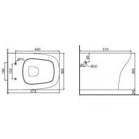 Унитаз подвесной Devit iven с крышкой из дюропласта soft close(3020141)