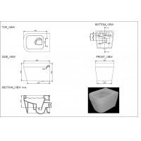 Унитаз подвесной Devit Optima с крышкой из дюропласта soft close (3020130)