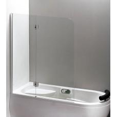 Штора для ванны Eger 120x150 прозрачное стекло, левая (599-120CH)