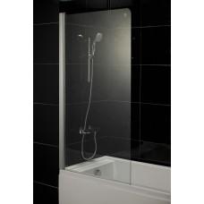 Штора для ванны Eger 80x150 прозрачное стекло, левая (599-02)