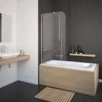 Шторка на ванну Eger 80x150 прозрачное стекло (599-02/L)