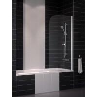 Шторка на ванну Eger 80x150 тонированное стекло (599-02R/grey)