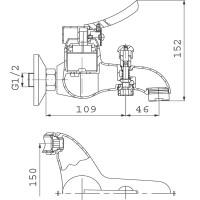 Смеситель для ванны FERRO Werona (BTW1)