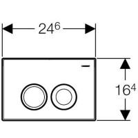 Кнопка Geberit Delta 21 для инсталляции, хром глянец (115.125.21.1)