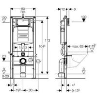 Инсталляционная система Geberit Duofix для подвесного унитаза, (UP320), 12 см (111.300.00.5)