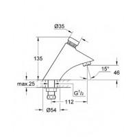 смеситель  для раковины Grohe Contropress хром (36174000)